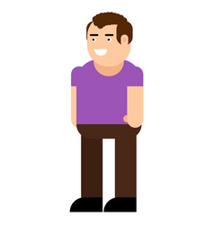 male character icon vector image