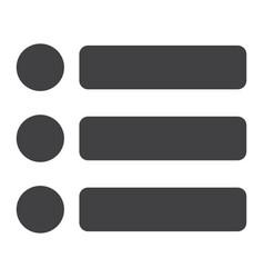 menu glyph icon web and mobile hamburger sign vector image