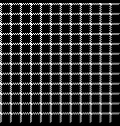 Mesh pixel ornament black seamless pattern vector