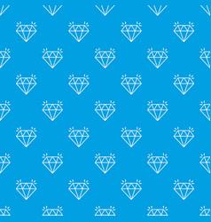 mine diamond pattern seamless blue vector image