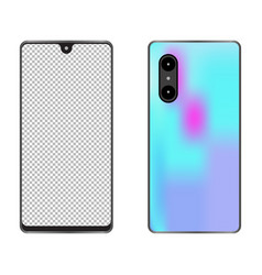 Mobile phone with a blank screen vector