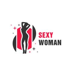 Modern sexy woman logo vector