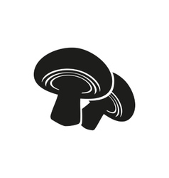 Mushroom on white vector image