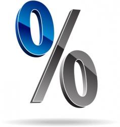 Percent symbol vector