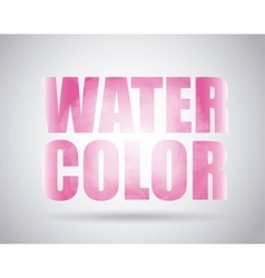 Pink text icon Watercolor design graphic vector