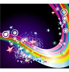 Rainbow stars background vector