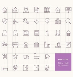Real Estate Outline Icons for web and mobile apps vector image