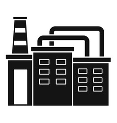 Refinery factory icon simple style vector