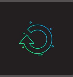 reset icon design vector image