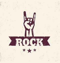 rock sign hand-horn rock-concert gesture vector image