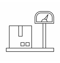Scales for cargo icon outline style vector