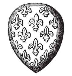 Seal of the dauphin louis is a complete coats of vector