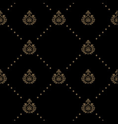 seamless pattern in black color vector image