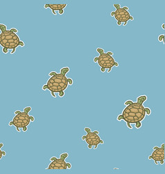 seamless pattern of turtles vector image