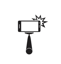 selfie stick icon concept for design vector image