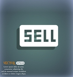 Sell Contributor earnings icon symbol on the vector
