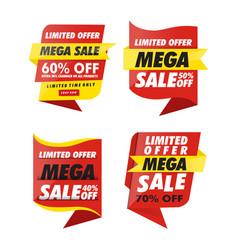 sets banner sale vector image