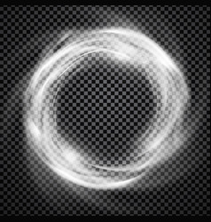 Smoke ring light effect with trasparency vector