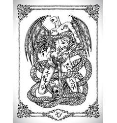 snake symbol vector image