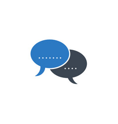 speech bubble flat related glyph icon vector image