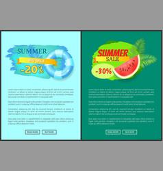 Summer big sale summertime proposition for clients vector
