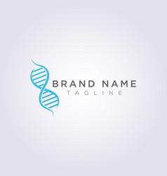 symbol icon logo design dna genetic molecular vector image