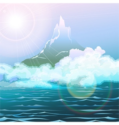 the seascape vector image