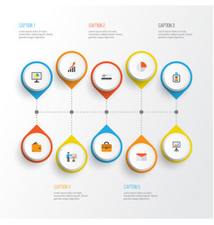 trade flat icons set collection of payment vector image
