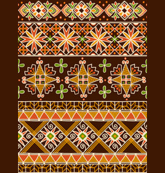 ukrainian eastern pattern vector image