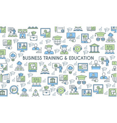 Business training and education banner vector