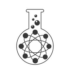 test tube with atom icon vector image
