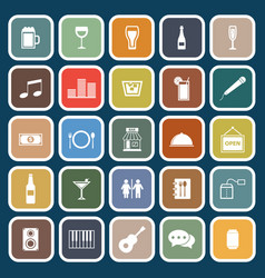 bar flat icons on blue background vector image
