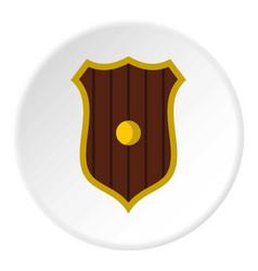 Protective shield icon circle vector