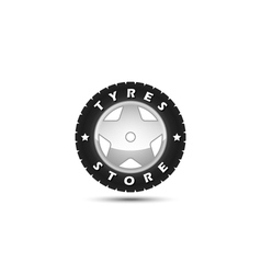 tires store logo template vector image vector image