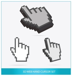 Web arrow hands symbols set isolated vector image