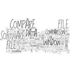 window file compare utility for survival text vector image