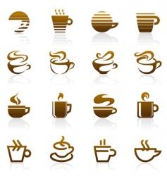 coffee logo vector image vector image