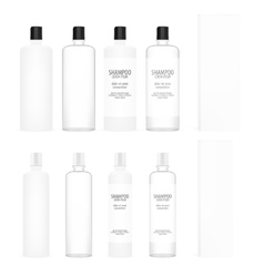 Cosmetic Plastic Bottles Beauty Product Set vector image