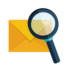 email envelope message search vector image