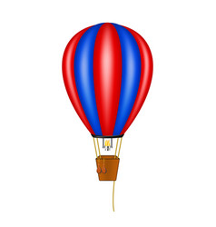 Hot air balloon in blue and red design vector