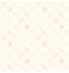Moscow theme background vector