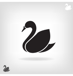 Stylized silhouette of Swan on a light background vector image vector image