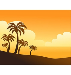 Summer color background with palm trees vector image vector image