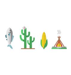 wild west american indian designed element vector image vector image