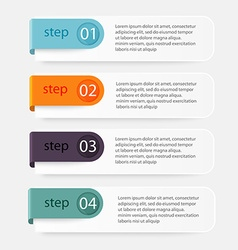colorful info graphics for your business vector image vector image