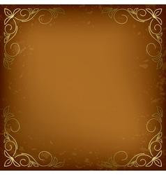 dark beige card with golden decor vector image vector image