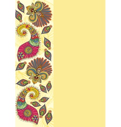 Doodle flowers and paisley vector image