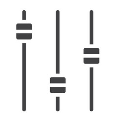equalizer glyph icon web and mobile audio sign vector image