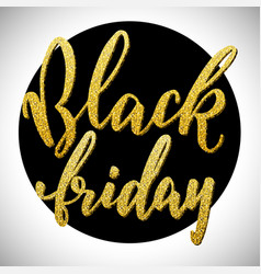 hand drawn lettering for black friday vector image vector image