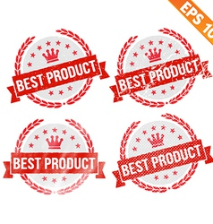 Rubber stamp best product - - EPS10 vector image vector image